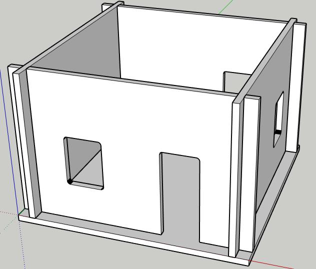 Peep village slotted house v5 model front